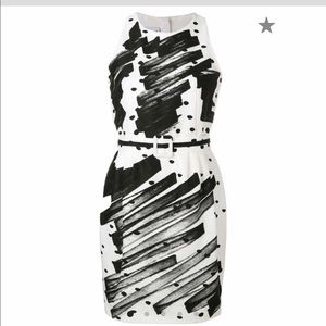 Moschino Couture brushstroke polka dot dress